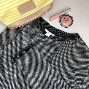 J.Jill Checker Cotton Blend Thermal Texture Top M